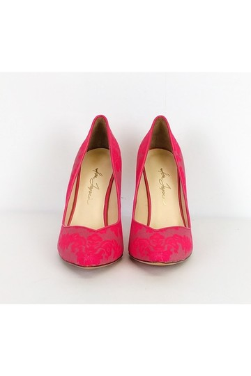 Isa Tapia Patterned Heels Pink Pumps