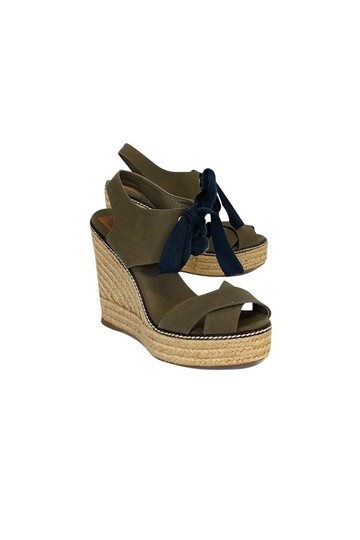 Tory Burch Espadrille Green Wedges