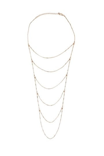 Preload https://item4.tradesy.com/images/tiered-rose-gold-necklace-23175033-0-0.jpg?width=440&height=440