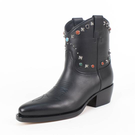 Preload https://img-static.tradesy.com/item/23175057/valentino-black-leather-cowboywestern-rockstud-multiple-stone-heel-bootsbooties-size-eu-35-approx-us-0-0-540-540.jpg