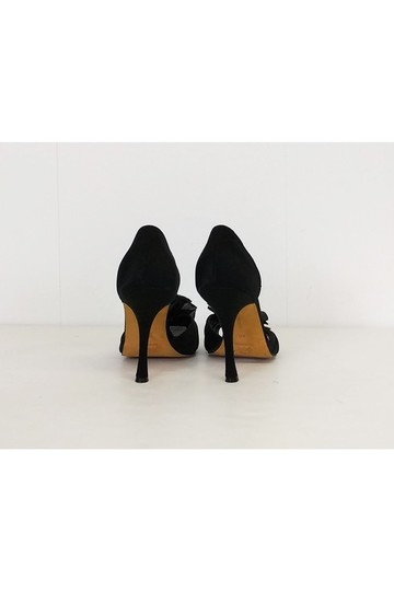 Manolo Blahnik Ruffle Heels Black Pumps