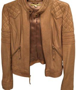 Gianni Bini camel Leather Jacket