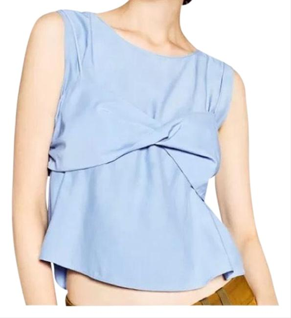Preload https://item3.tradesy.com/images/zara-sky-blue-front-knot-blouse-size-4-s-23175117-0-1.jpg?width=400&height=650