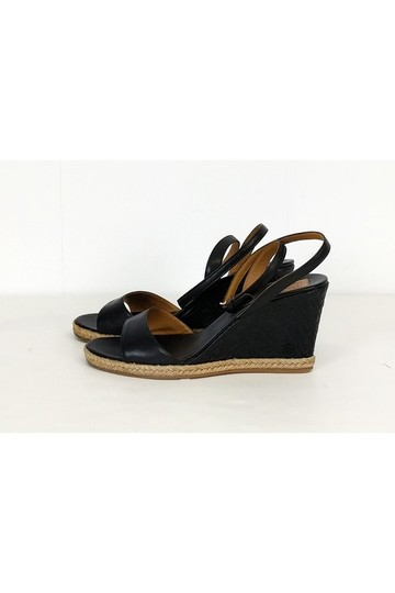 Tory Burch Quilted Black Wedges