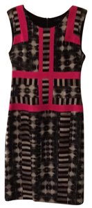 BCBGMAXAZRIA short dress black/white and hot pink on Tradesy