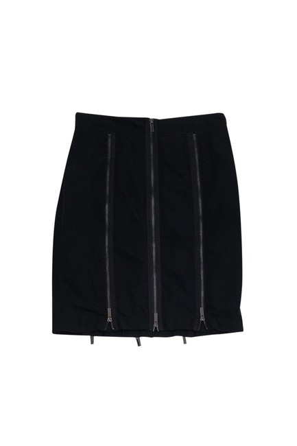 BCBGMAXAZRIA Zipper Skirt Black