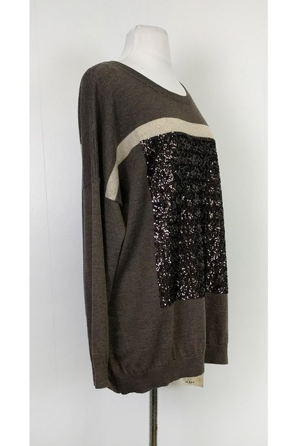 Laurel Grey Taupe Sequin Sweater