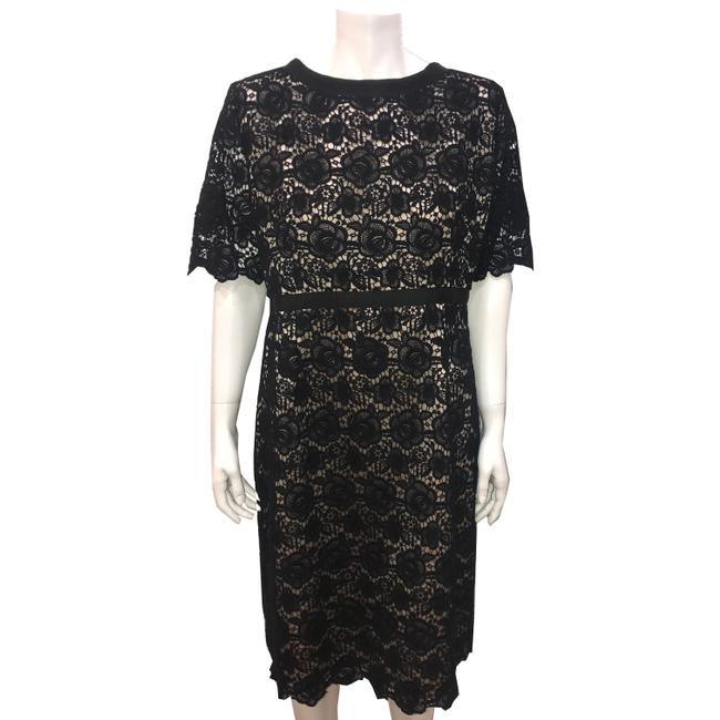 Preload https://item5.tradesy.com/images/black-pairs-lace-mid-length-short-casual-dress-size-14-l-23175174-0-0.jpg?width=400&height=650