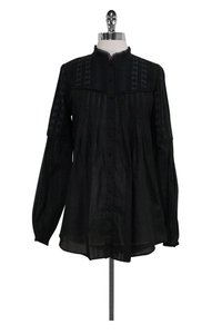 Rebecca Taylor Embroidered Top Black