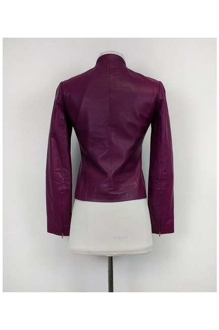 BCBGMAXAZRIA Leather Purple Jacket