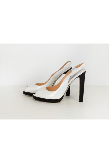 Sergio Rossi Black Slingbacks White Pumps