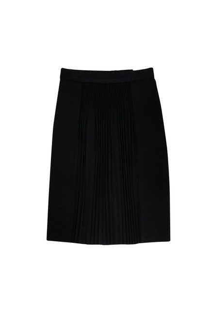 Elie Tahari Accordion Pleat Skirt Black