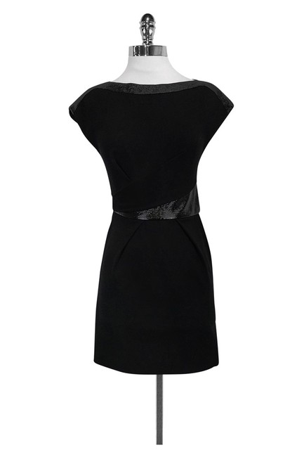 The Kooples short dress Black W/ Trim on Tradesy