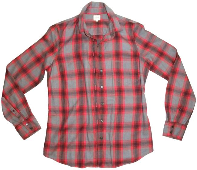 Preload https://img-static.tradesy.com/item/23175229/jcrew-gray-red-plaid-the-perfect-shirt-flannel-button-down-top-size-4-s-0-2-650-650.jpg