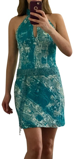 Preload https://item2.tradesy.com/images/cache-blue-white-and-green-beaded-high-neck-short-cocktail-dress-size-2-xs-23175231-0-1.jpg?width=400&height=650