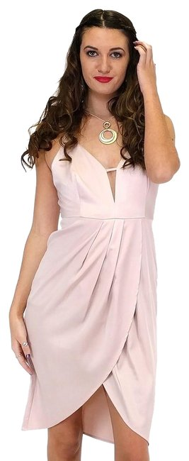 The Room short dress pink Stunner In Satin on Tradesy