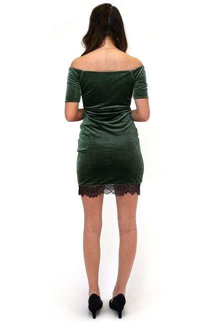 Sugarlips short dress green A Taste Of Lace Velvet on Tradesy