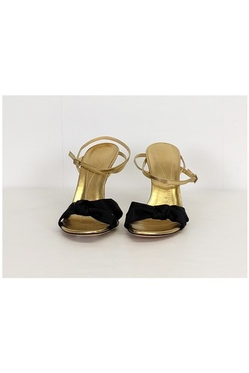 Kate Spade Gold Ankle Strap Heels Black Pumps