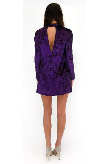 Essue short dress purple Grape Crush Velvet on Tradesy