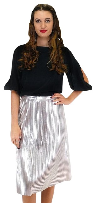 Preload https://item5.tradesy.com/images/ark-and-co-silver-knee-length-skirt-size-8-m-23175289-0-1.jpg?width=400&height=650