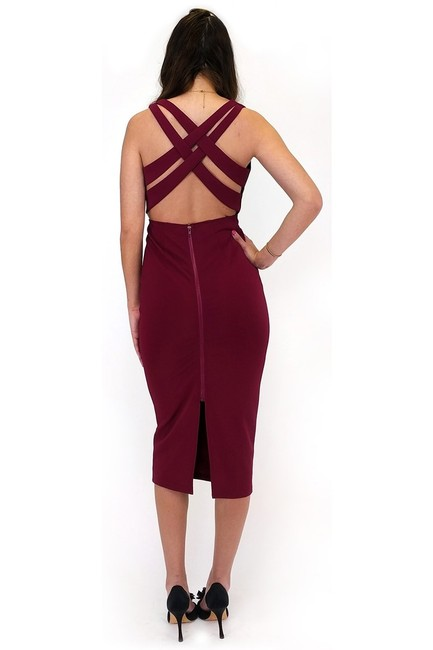 Ark & Co. short dress A Burgundy Basket Back on Tradesy
