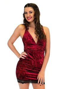 The Room short dress red Sweet Velvet Chic on Tradesy