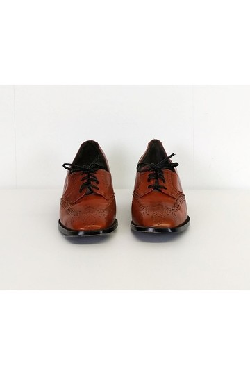 Bally Leather Oxfords Orange Pumps