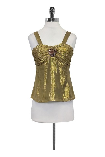 Preload https://item4.tradesy.com/images/nanette-lepore-gold-activewear-top-size-4-s-23175378-0-0.jpg?width=400&height=650