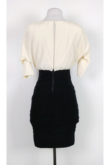 Alice + Olivia short dress White Black Fitted on Tradesy