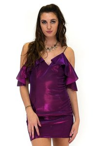 Essue short dress pink Funky Fuchsia Metallic on Tradesy
