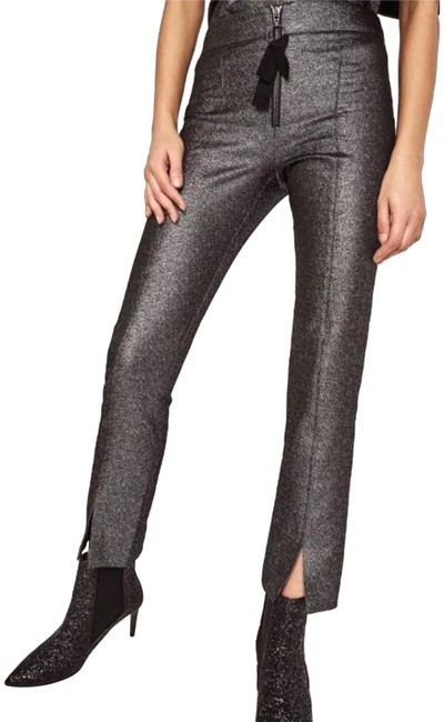 Preload https://item4.tradesy.com/images/zara-silver-cinched-waist-with-slit-hem-trousers-size-0-xs-25-23175413-0-1.jpg?width=400&height=650