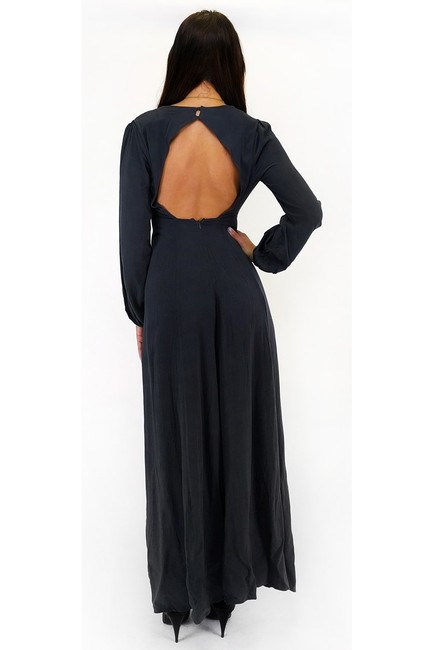 Maxi Dress by Lush Charcoal Goals Maxi