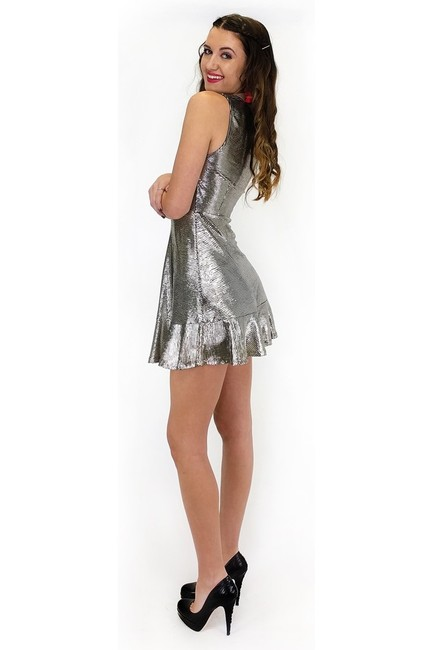Everly short dress silver My Disco Darling on Tradesy