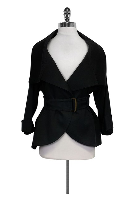 Charles Chang Lima Belted Black Jacket