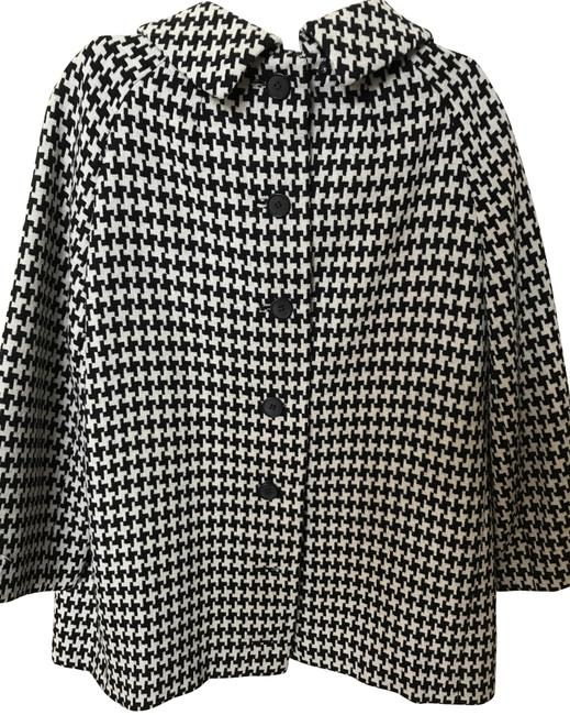 Item - Black and White Wool Tweed Skirt Suit Size 6 (S)