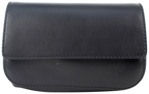 Valentino Leather Fanny Pack Small Removable Strap Made In Italy Black Travel Bag
