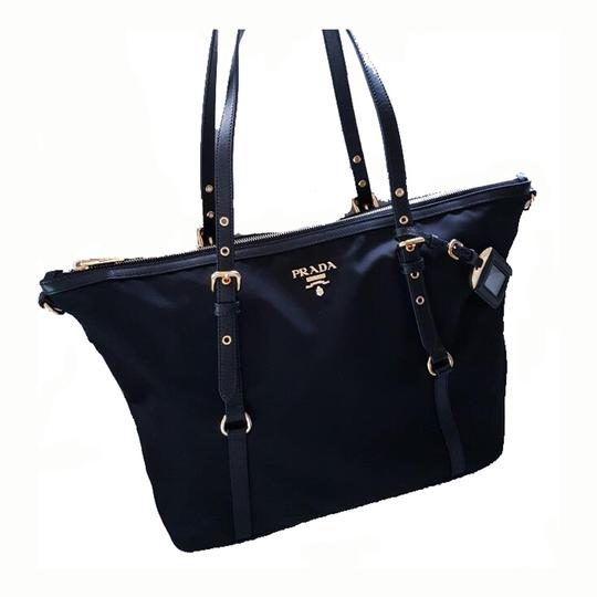 a95a92ed6bb6 Prada Women s Tessuto Shopping 1bg253 Navy Blue Nylon Tote - Tradesy