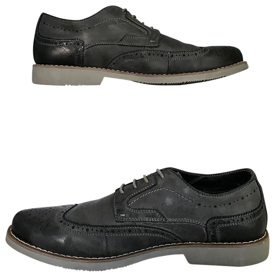 d3542fe86ab Steve Madden Dark Grey Traverse Leather Lace Up Oxfords Men's Formal Shoes  Size US 11 Regular (M, B) 58% off retail