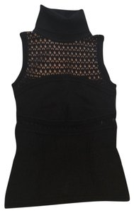 Catherine Malandrino Top black with tan underlay