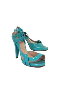 Chloé Patent Leather Turquoise Heels Pumps
