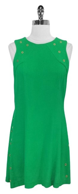 Preload https://img-static.tradesy.com/item/2317613/sandro-green-reptile-woven-a-line-mid-length-short-casual-dress-size-2-xs-0-0-650-650.jpg