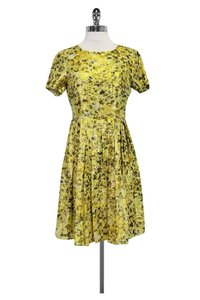 J.Crew short dress Green Collection Yellow Floral on Tradesy