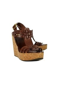 Tory Burch Caged Cork brown Wedges