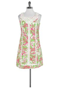 Lilly Pulitzer short dress Green White Pink on Tradesy