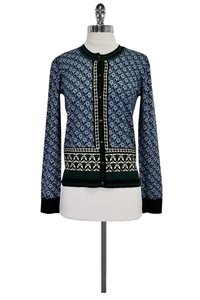 Tory Burch Green Printed Cardigan