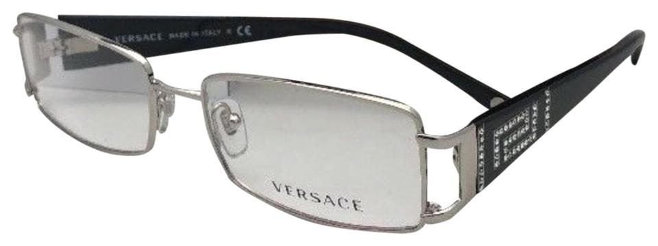 bf20d2761be2 Versace New Rx-able Mod.1163-b 1332 52-16 130 Silver-black W ...