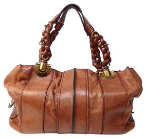 Chloé Leather Satchel in whiskey