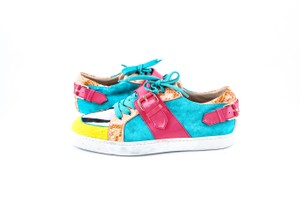 Christian Louboutin * Multi W Suede/Patent W/ Python Low Sneakers Shoes