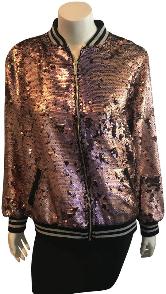 eb53c4bdc True Religion Pink 81318 Nwd Pailette Sequin Bomber Jacket Size 4 (S) 73%  off retail