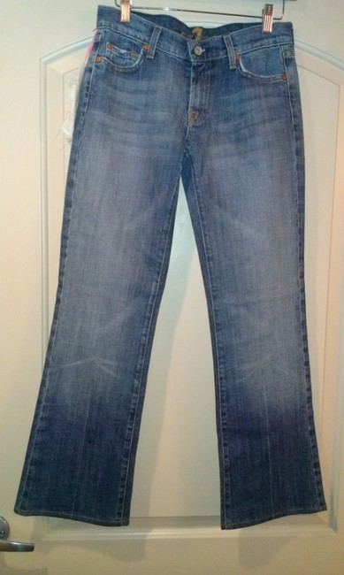 7 For All Mankind New New With Tags Bootcut Flare Leg Jeans-Medium Wash